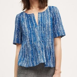 Anthropologie Maeve | Orchid Island Blue Blouse
